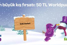 Toplamda 50 TL Worldpuan