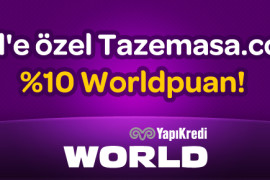 World'e Özel Tazemasa.com'da %10 Worldpuan