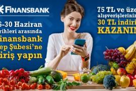 Finansbank'tan 75 TL ve Üzeri Alışverişlerinizde 30 TL İndirim Kazanın!