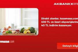 Akbank Direkt'i Olanlar 40 TL İndirim Kazanıyor!