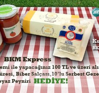 BKM Express ile 100 TL ve Üzeri Alışverişinize Harika Hediyeler!
