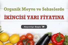 Organik Meyve ve Sebzelerde 2.si %50 İndirimli!