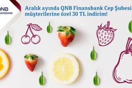 QNB Finansbank Cep Şubesi Müşterilerine Özel 30 TL İndirim!