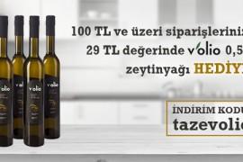 29 TL Değerinde Volio Zeytinyağı Hediye!