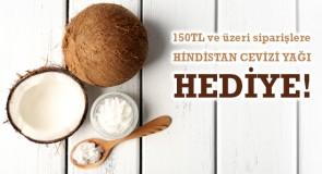 150 TL ve Üzeri Siparişlere Hindistan Cevizi Yağı Hediye!