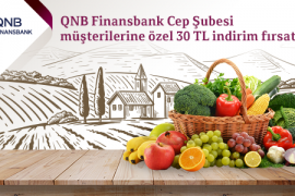 QNB Finansbank Cep Şubesi Müşterilerine Özel 30 TL İndirim Fırsatı