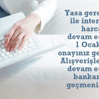 Kredi Kartlarının İnternet Alışverişlerinde Kullanımı Hakkında Bilgilendirme