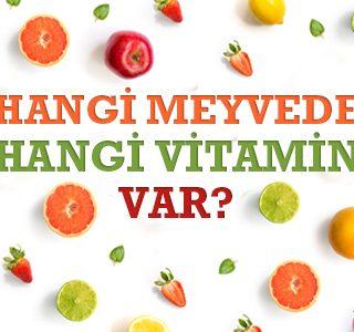 Hangi Meyvede Hangi Vitamin Var?