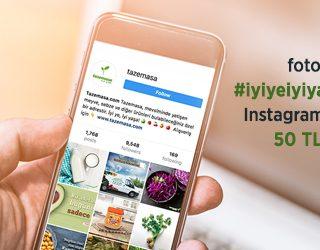 Instagram'da Paylaşın, 50 TL Hediye Çeki Kazanın!