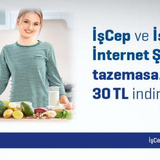 İşCep ve İş Bankası İnternet Şubesi'nden tazemasa.com'da 30 TL İndirim Fırsatı!