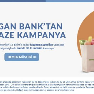 Burgan Bank'tan Taptaze Kampanya!